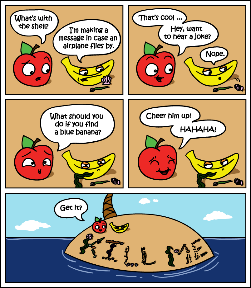 2010-05-02-Blue_Banana - A banana and and apple were stranded on an island.. - Jokes and Humor